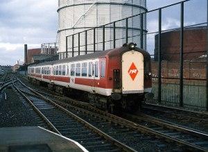 Train entering Central Station, Belfast - 1988