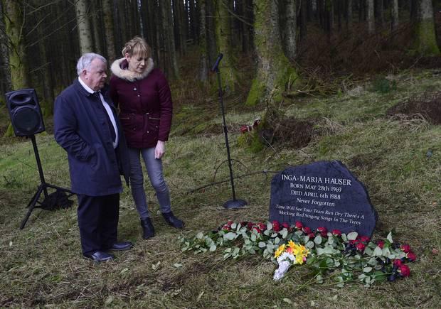 John and Keeley at Inga's Memorial 6.4.18
